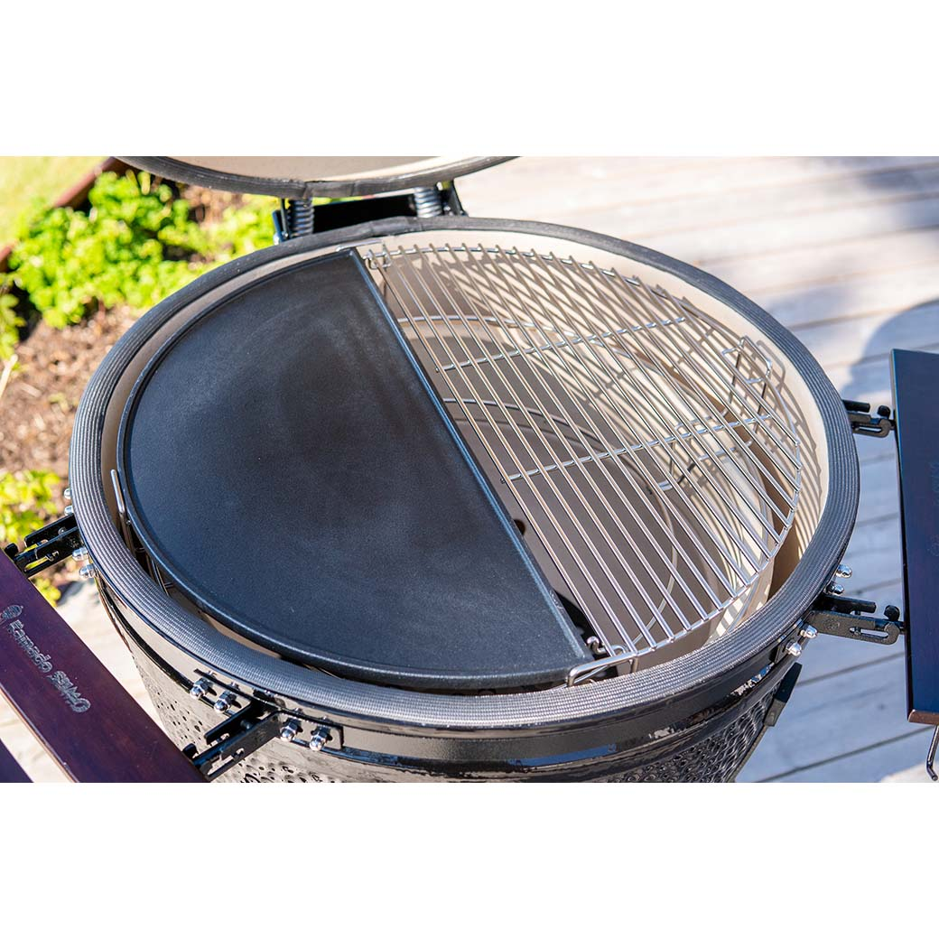 Double sided grill and roasting plate in cast iron Kamado SUMO