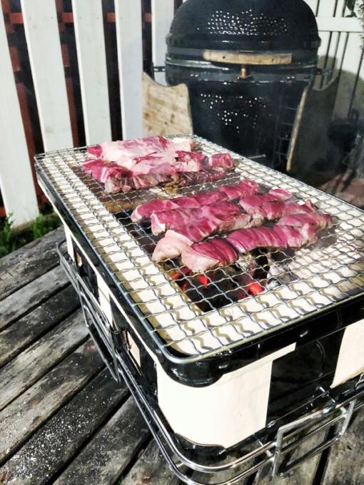 Hibachi tender meat